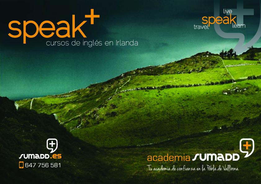 speak +, speak plus, los cursos de inglés en Irlanda de la academia sumadd.