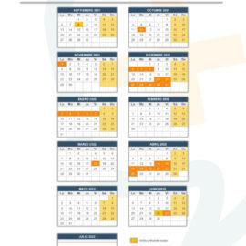 calendario académico 21-22 academia SUMADD la Pobla de Vallbona